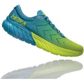 Hoka One One Mach 2 Running Shoes Men Storm Blue/Lime Green
